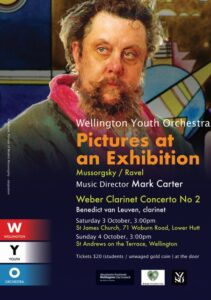 Poster for WYO Concert, 3rd and 4th October 2020